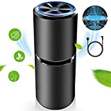 RioRand Car Air Purifier True Hepa Filter Portable Ozone Ionizer Car Air Freshener Cleaner Dual USB Ports Ultra Quiet to Remove Allergies Smoke Mold Dust Germs in Car Bedroom Bathroom