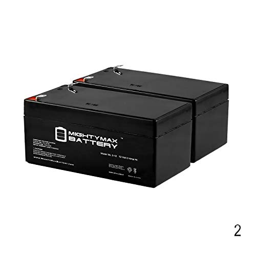 Mighty Max Battery 12V 3AH SLA Replacement Battery for MK ES3-12 - 2 Pack Brand Product