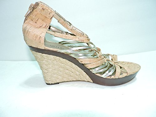 Wedge B M Size 8 leather cork and 5 sandals Womens platform Platinum Vaneli Darry qUwgFtH