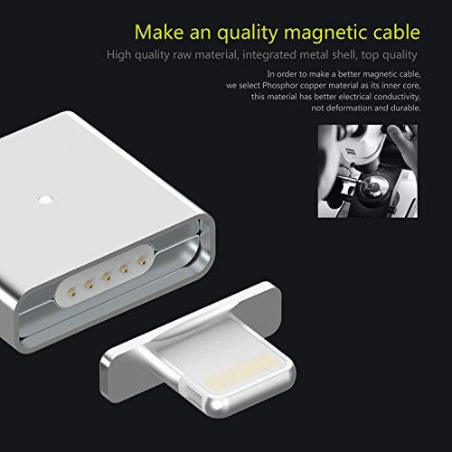 WSKEN XCable - Adattore Magnetico Lightning set connettori in alluminio per tutti i dispositivi con porta Lightning Apple iPhone 5 5S 5C / iPhone 6 6S Plus etc. - 2 connettori