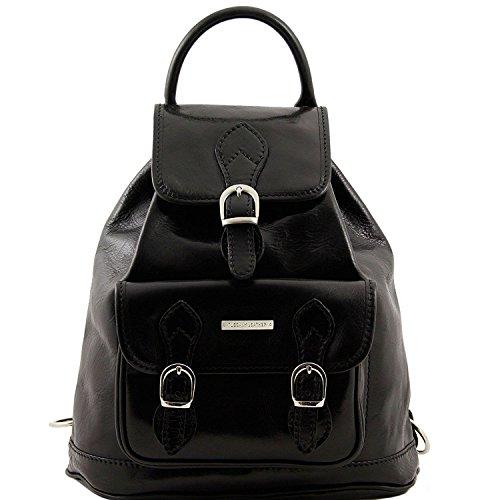 Tuscany Leather - Singapore - Leather - Backpack Black - - Paragon Singapore