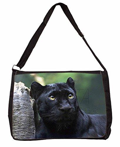 Black Panther Large 16 Black School Laptop Shoulder Bag evSJuWyD