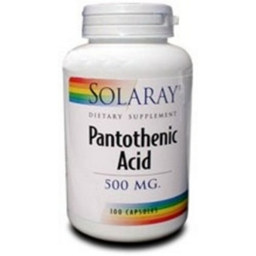 Solaray Pantothenic Acid 500mg -100 Caps