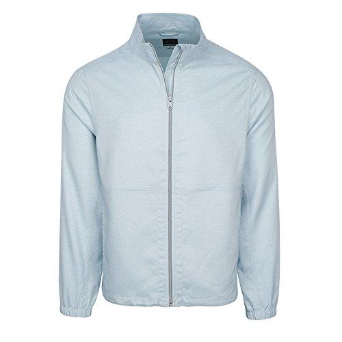 Zip Windbreaker (Greg Norman Windbreaker Full Zip Golf Jacket 2017 Silver Mist Heather Medium)