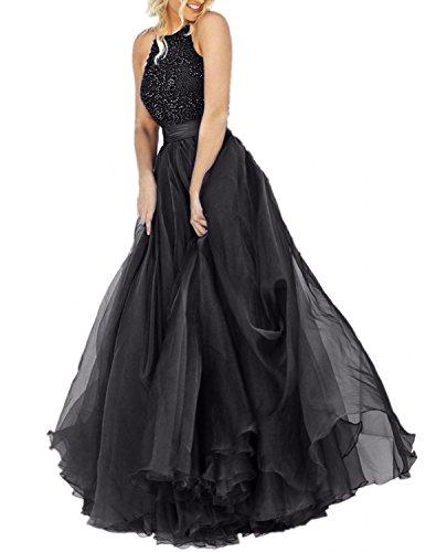 Prinzess mia Langes Schwarz La Promkleider Linie Damen Brau Rock Perlen Festlichkleider A Abschlussballkleider Abendkleider Fnwnx1ZCzq