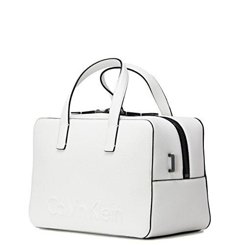 weiß DUFFLE white white K60K604006 SAC EDGE CALVIN FEMME KLEIN UwWSq4xBv