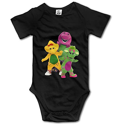 ZZHZMH Barney and Friends Unisex Short Sleeve Pack s for Baby Boys/Girls -