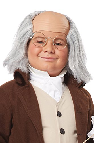 [California Costumes Benjamin Franklin Wig Child Costume, ACC] (Ben Franklin Costumes Child)