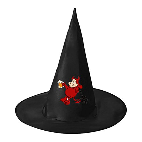 Red Drunkard Black Witch Hats Costume Halloween Party Carnivals Costume Accessory Cap Toys For Girl And Boy