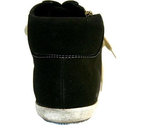Baretraps Pièges Nus Femmes Carson En Cuir Bas Haut Lace Up Sneakers De Mode Noir