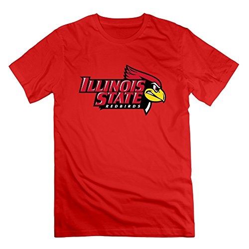 LOOIN Men's NCAA Illinois State Redbirds Team Logo T-Shirt [Apparel] (Classic Shirt Illinois)