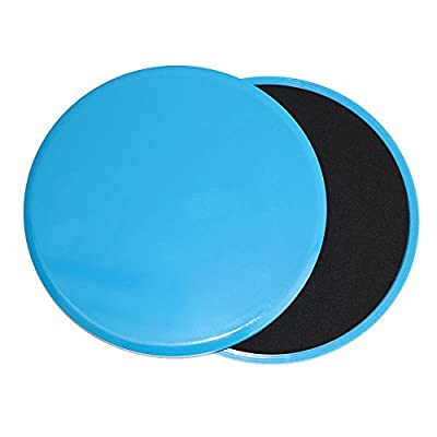 Dual Sided Gliding Discs Core Sliders and Exercise Resistance Loop Bands, Abdominal & Total Body Workout Equipment for Home by Tengchuan