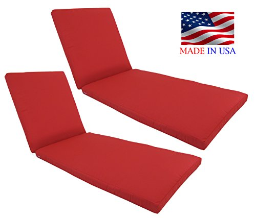 Made in USA Outdoor Patio Chaise Lounge Cushion 24