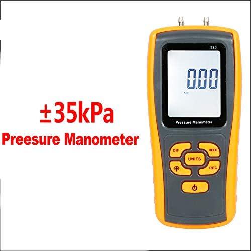 デジタル空気圧計ガス圧テスターハンドヘルドポータブルツール、バックライト付きディスプレイ、ほこりのないワークショップおよび実験室用