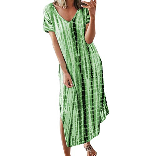 Women's Vintage Patchwork Pockets Puffy Swing Casual Party Dress Women Short Sleeve Round Neck Summer Casual Flared Midi Dress Elegant Spaghetti Straps Deep V Neck Sleeveless Bodycon Party Dress ()