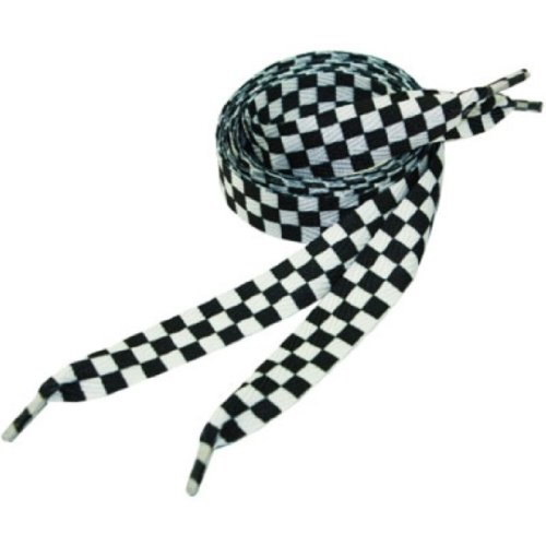 Black and White Checkers Shoe Laces