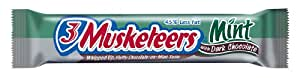 3 Musketeers Dark Chocolate Mint Candy, 1.24-Ounce Bars (Pack of 24)