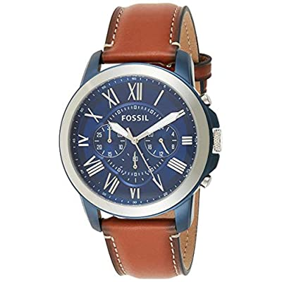 Fossil Men's Grant Stainless Steel Chronograph Quartz Watch