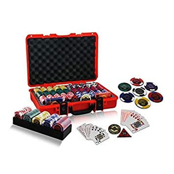Casinoite Rodeo Cowboy 600 Poker Chips Set, Multicolour