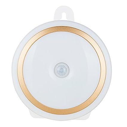 DealMux Motion Sensor Night Light bateria portátil alimentado 5 LED Wireless Security Sensing Noite Lâmpada para
