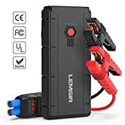 #LightningDeal LEMSIR QDSP 1500A Peak 12V Portable Car Lithium Jump Starter Auto Battery Booster up to 8.0L Gas or 6.2L Diesel Phone Charger Power Pack with Smart Jumper Cables V2