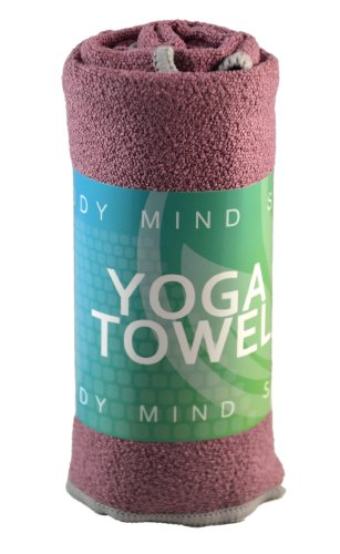 Yoga Mat Towels and Hand Towels - Best Accessory for Hot Yoga - Yoga Towel with Non Slip Grip; Exercise, Fitness, Pilates, and Yoga Gear; Money Back Guarantee (Pale Lavender, Hand Towel)