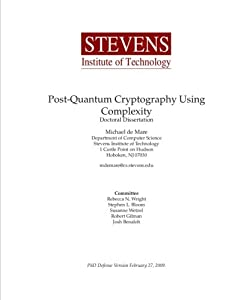 Post-Quantum Cryptography Using Complexity