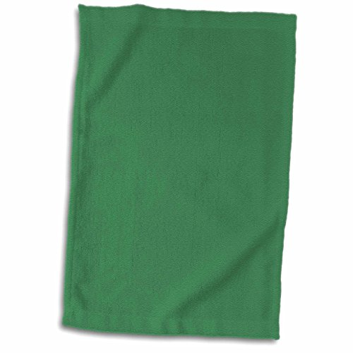 "3dRose Print of Kelly Green Towel, 15"" x 22"""