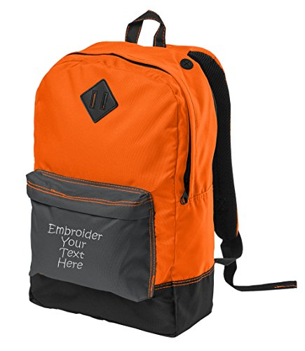 Personalized District Retro Backpack, Neon Orange with Fo...