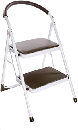 GBX Escalera de Mano, Apto para Adultos Y Niños Formación Escalera Plegable con Mango de Cubierta Escalera Portátil/Escabel/Almacenamiento Soporte/Soporte de Flor - Paso de Heces Duradero,Color: Amazon.es: Bricolaje y herramientas