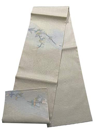 怖がって死ぬ拒絶祭司リサイクル 袋帯 夏物 素朴な植物文 お太鼓柄 正絹