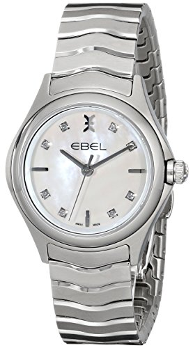 Ebel Women's 1216193 Wave Stainless Steel Watch with Diamond Markers
