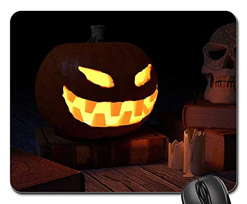 Mouse Pads - Pumpkin Halloween Skull Scary -