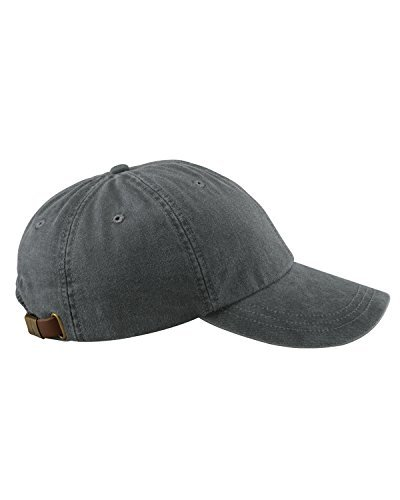 Adams 6-Panel Low-Profile Washed Pigment-Dyed Cap, Charcoal, OS