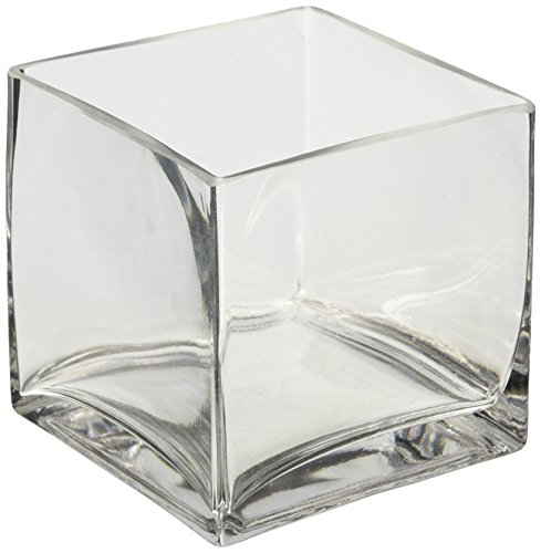 Amazon 1 X 5 Clear Glass Square Vase 5x5x5 Home Kitchen