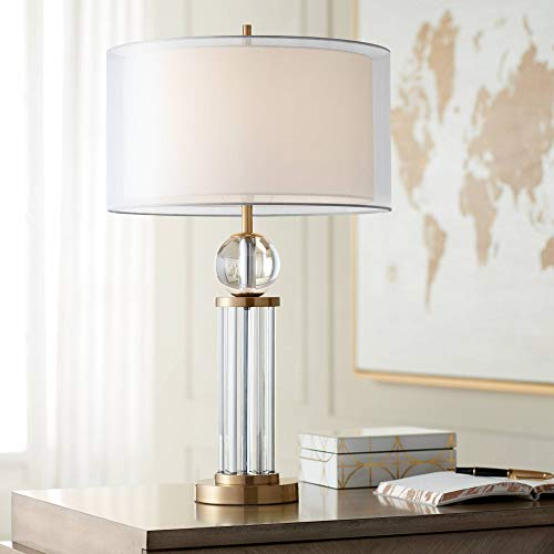 Poly Crystal Shades - Darcy Modern Table Lamp Brass