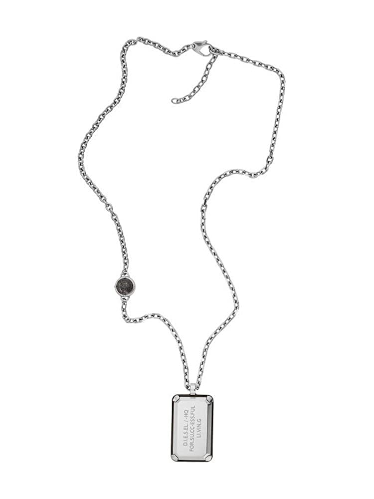 Diesel Military-Inspired Stainless-Steel ID Dog Tag Necklace DX1019040