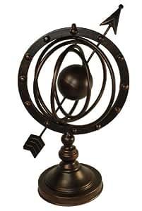 43,18 cm acabado antiguo diseño de senderos de sarkozy astrolabio pequeños de globo y flechas