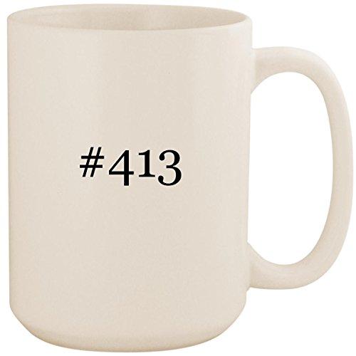 - #413 - White Hashtag 15oz Ceramic Coffee Mug Cup