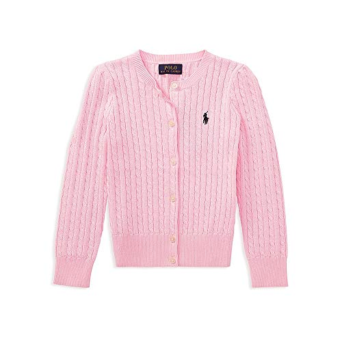 (Ralph Lauren Polo Girls Cotton Knit Cable Cardigan Sweater (3T))