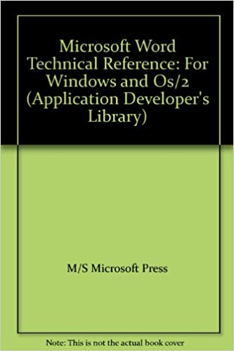 amazon microsoft word technical reference for windows and os 2