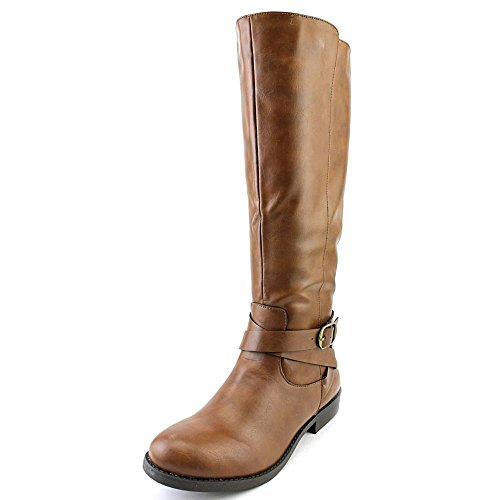 Style & Co. Womens Madixe Round Toe Mid-Calf Riding Boots, Cognac, Size 10.0 from Style & Co.