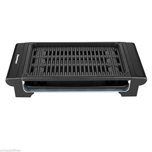 Portable Electric Grill Non Stick Smokeless Griddle Indoor