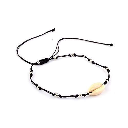 Wood Beads Shell Bracelets - Sacow☘ Women's Beach Anklet Natural Shell and Wood Beads Bohemian Ankle Bracelet