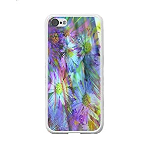 Colorful Flowers Sparkling Pattern Hard Case Cover for Iphone 5c