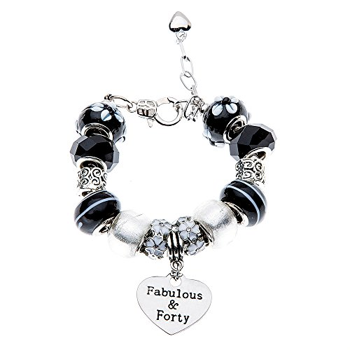 Infinity Collection 40 and Fabulous Charm Bracelet. 40th Birthday Gifts for Women, 40th Birthday Ideas, Gift for Her