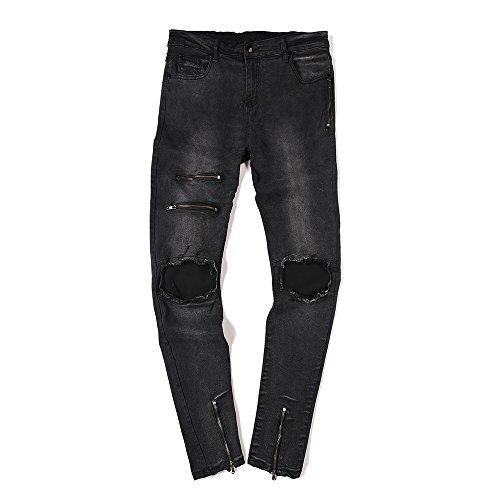 Zipper Cotton Men Jeans - 8