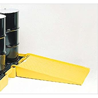 """Eagle 1689 Polyethylene Low Profile Pallet Ramp, Yellow, 1500 lbs Load Capacity, 45.5"""" Length, 32"""" Width, 8"""" Height"""