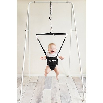 de071a124 Amazon.com   Jolly Jumper Exerciser with Portable Stand in White   Baby