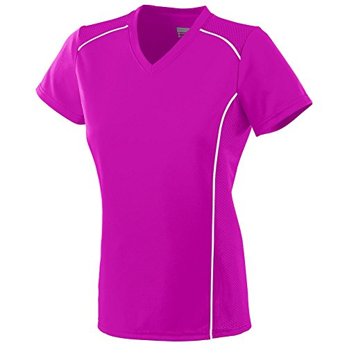 Augusta Sportswear Girls' WINNING STREAK JERSEY M Power Pink/White - Pink Softball Jerseys